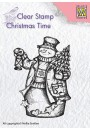 "CT024 Clear stamps Christmas time ""Snowman with lantern"""