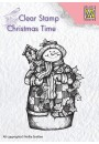 "CT025 Clear stamps Christmas time ""Snowman with birdhouse"""