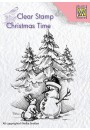 "CT026 Clear stamps Christmas time ""Snowman and rabbit"""