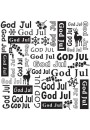 "DCTXT009 Embossing folder  ""God Jul"""