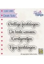 "DTCS025 Clear stamps Dutch texts ""Prettig Feestdagen  etc...."""