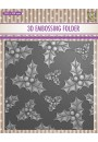 "EF3D014 3D Embossing folder ""holly leaves & berries"""