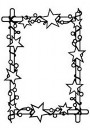"HSFC006 Hobby Solution Christmas Embossing Folder ""rectangle frame with stars"""