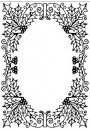 "HSFC010 Hobby Solution Christmas Embossing Folder ""Holly oval frame"""