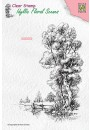 """IFS014 Clear stamps Idyllic Floral scenes """"tree with boat"""""""