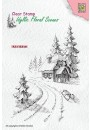 """IFS023 Clear Stamps Idyllic Floral Scenes """"Wintery house"""""""