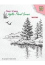 """IFS025 Clear Stamps Idyllic Floral Scenes """"Winter water's edge"""""""