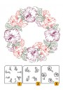 "LCS001 Layered Clear stamps ""flower-wreath 1"""