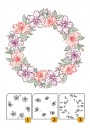 "LCS002 Layered Clear stamps ""flower-wreath 2"""