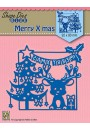"SDB065 Shape Dies Blue ""Merry Christmas scene"""