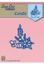 "SDB067 Shape Dies Blue ""Christmas candle"""