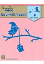 "SDB068 Shape Dies Blue ""Bird with present"""