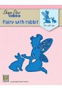 "SDB071 Shape Dies Blue ""Fairie with rabbit"""