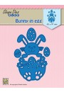 "SDB072 Shape Dies Blue ""Easter bunny in egg"""