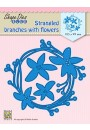 "SDB074 Shape Dies Blue ""Strangeled branches with flowers"""