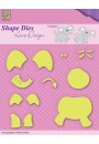 "SDL031 Shape Dies Lene Design Baby-serie ""build-up elephant"""