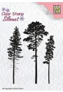 "SIL037 Clear stamps Silhouette ""3 pinetrees"""