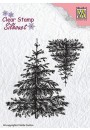 "SIL038 Clear stamps Silhouette Christmas ""2 fir-trees"""