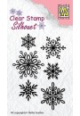 """SIL039 Clear stamps Silhouette """"snowflakes"""""""