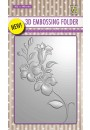 "EF3D005 3D-embossing folder ""branch with flowers"""