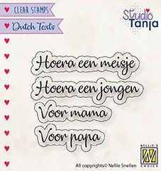 Nellies Choice Clear Stamps Alphabet Lena-2 A5